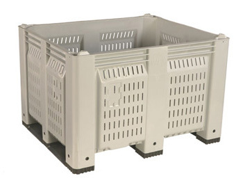 Vented Harvest Bin with 3 Short-side Runners